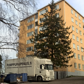 Kuva Pumppurappaus linjasaneeraus rappaus tasoitus Pumppausyksikkö kohteessa Rakennus Oy Wareco 350x350
